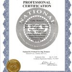 Certificate for National K-9 School for Dog Trainers